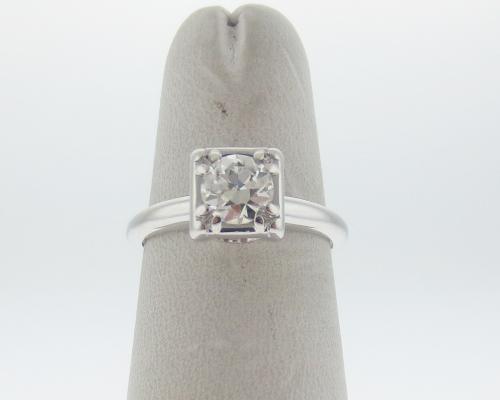 0.65 Ctw Round Diamond Enhancer Wrap Engagement Wedding Ring 14K White Gold Over